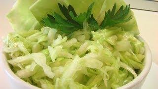 Салат из белокочанной капусты. Очень вкусно!
