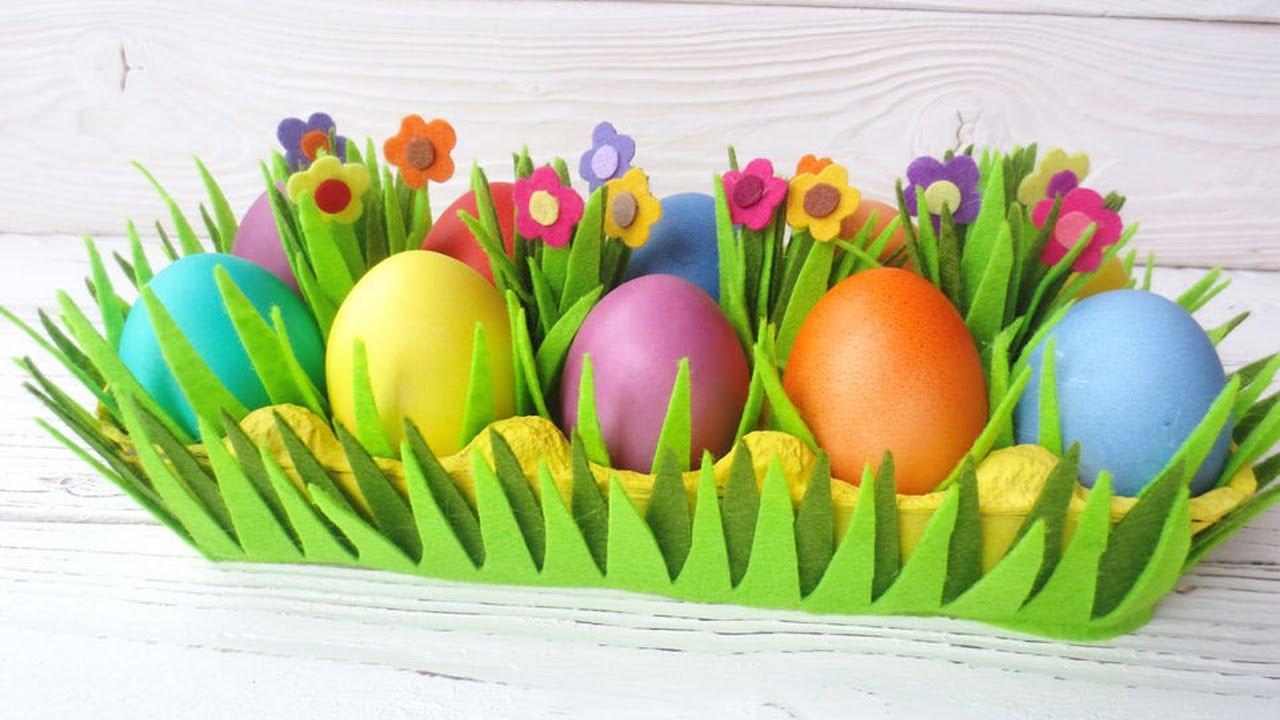Подставка для пасхальных яиц своими руками - YouTube