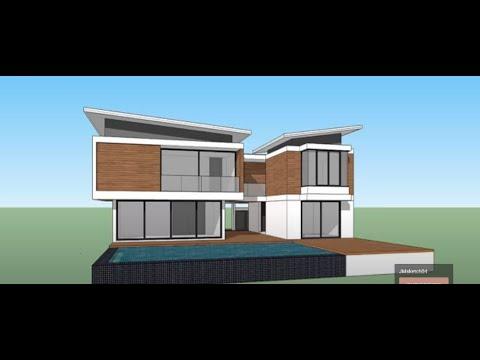 Sketchup pro 2015  create Modern House
