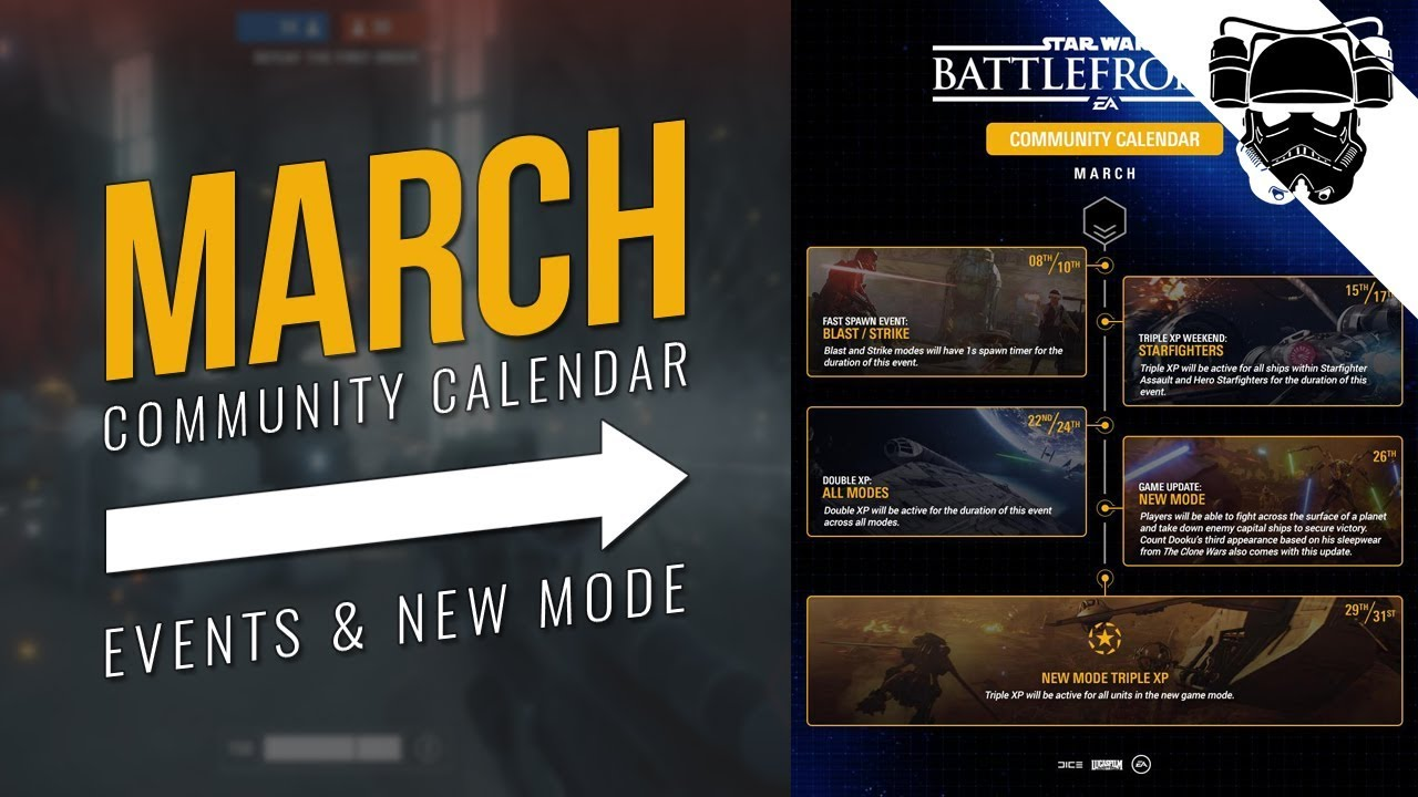 March Community Calendar | EVENTS & NEW MODE | Star Wars Battlefront 2