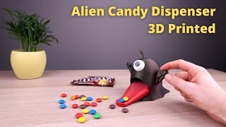 3D Printed Alien Candy Dispenser - using m&m