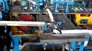 Test combined match box making machine for American customer