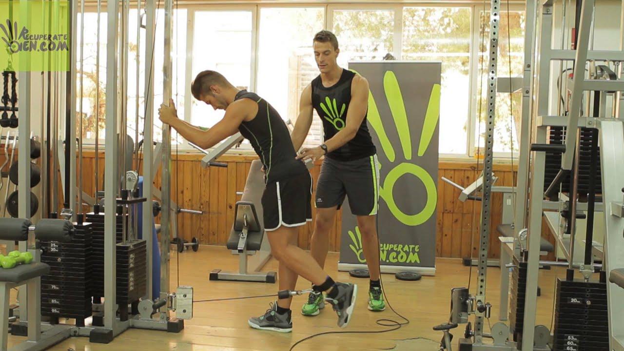 128 Gym Extensi 243 N De Cadera En Polea Baja Youtube