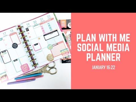 Plan With Me- Social Media Planner Jan 16-22