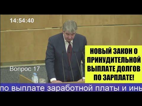 Новый закон о принудительной выплате долгов по зарплате работодателем.Госдума РФ. Трудовой кодекс