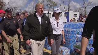 Trump, first lady tour Hurricane Michael damage in Florida