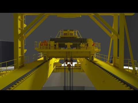 Кран мостовой электрический кругового действия. Electric Overhead Crane Of Circular Motion For NPPs