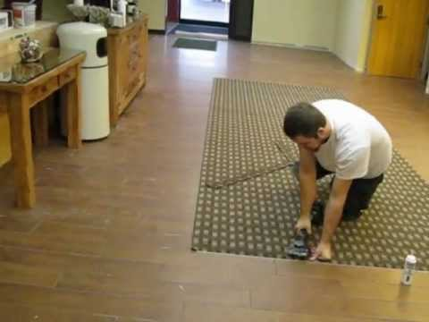 Hotel Lobby Renovation With Large Format Tile Carpet