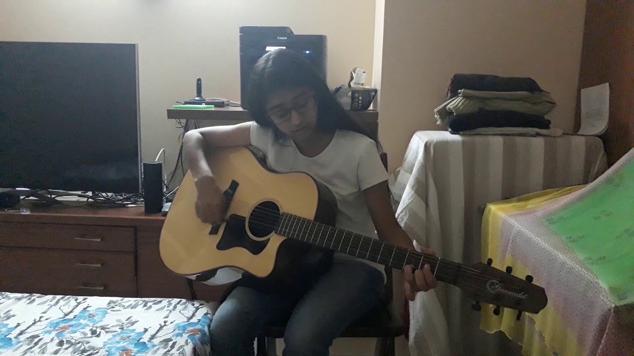 Iktaara on guitar by Muskan Gupta, Student of SAREGAMMA MUSIC INSTITUTE