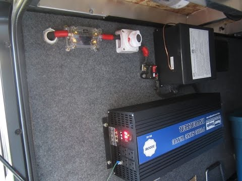 3000 watt Power Simple pure sine wave inverter install Raptor 300MP 5th Wheel