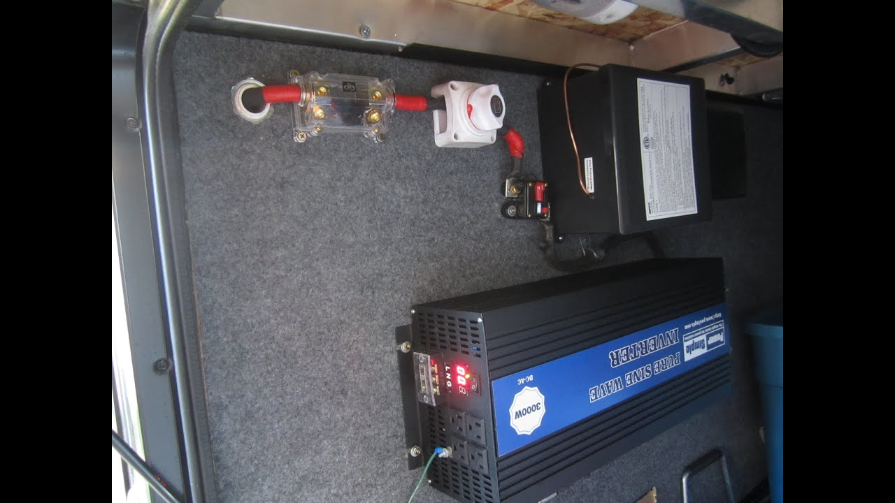 Camper Trailer Battery Wiring Diagram 3000 Watt Power Simple Pure Sine Wave Inverter Install