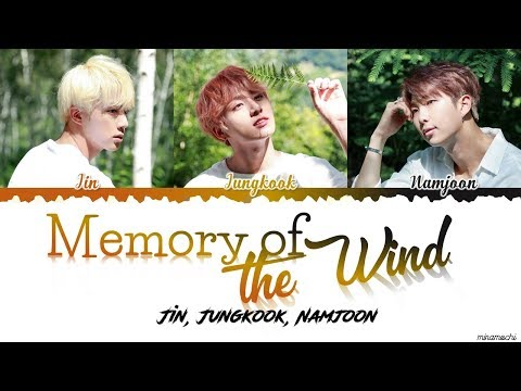 BTS Jin, RM, Jungkook - Memory of the Wind (바람기억) Lyrics