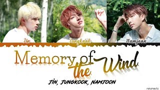 BTS Jin RM Jungkook Memory of the Wind Lyrics