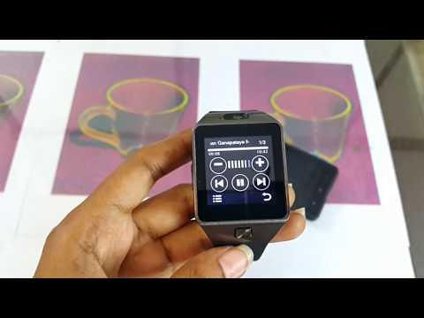 Hindi DZ09 Cheapest smart watch - part 2 - Detailed App Calling Anti Lost Function Camera Review