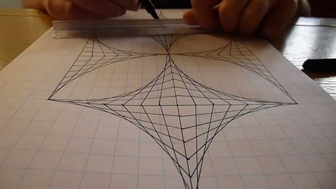 Creating Line Designs : Straight line art youtube