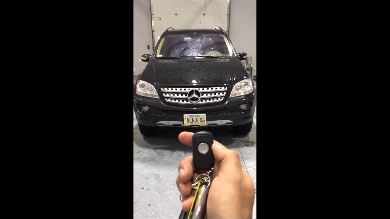 remote start mercedes ml500 slice jr compustar youtube. Black Bedroom Furniture Sets. Home Design Ideas