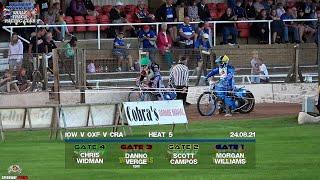 Heat 5 : Isle of Wight vs Oxford vs Cradley : 3 Team Tournament : 24/08/2021