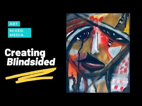 Mixed Media Art Journal ~ Blindsided