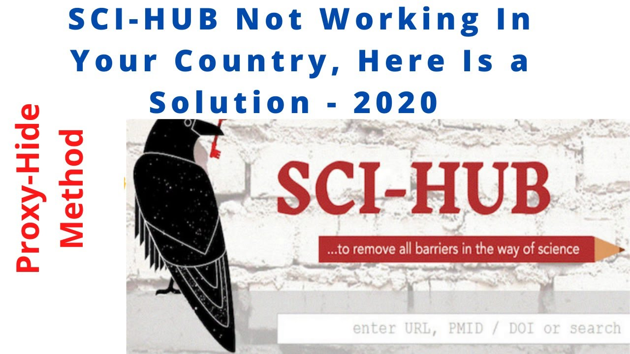 Solution Sci-hub Not Working in Your Country 2020 || Sci hub proxy #scihub