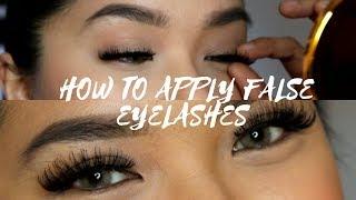 How to apply false eyelashes by LA Inofre
