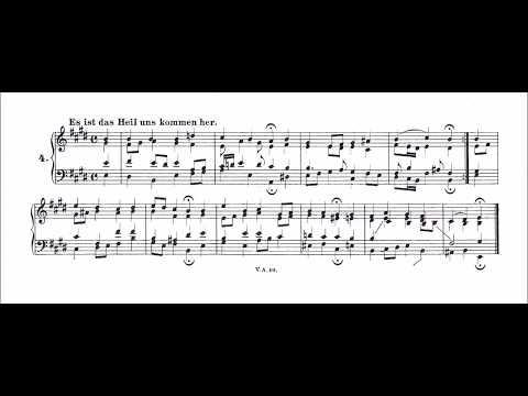 Es ist das Heil uns kommen her Bach Chorale No  4 BWV 9