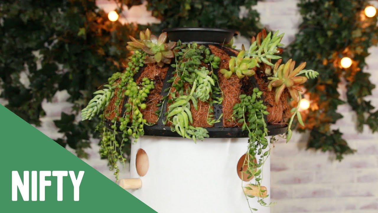 Birdhouse Bucket Planter