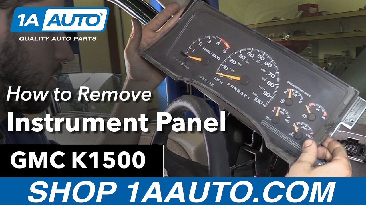 small resolution of how to replace bulbs instrument panel 88 98 gmc k1500