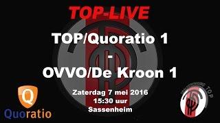 TOP/Quoratio 1 - OVVO/De Kroon, zaterdag 7 mei 2016