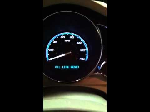 How too reset Chevy Malibu oil life