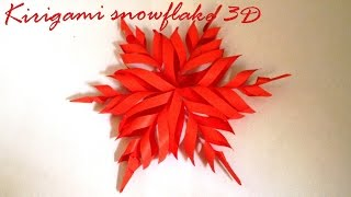 Cara membuat origami kirigami snowflake 3d