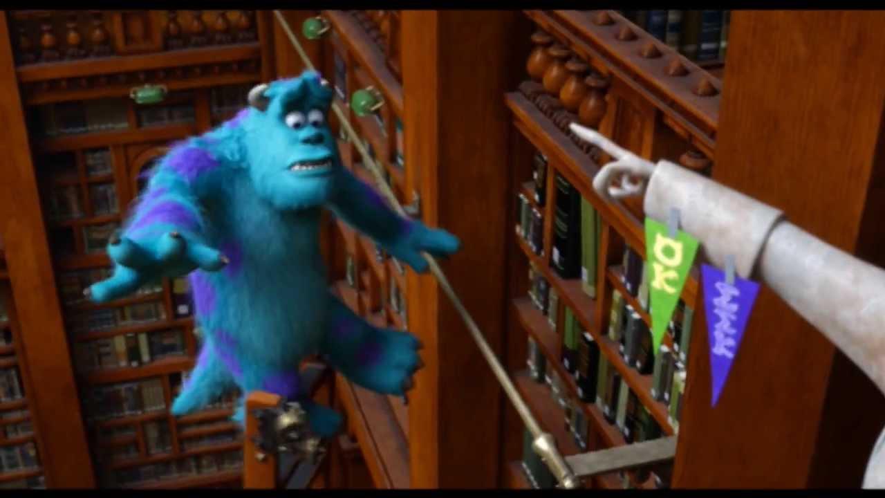 Monsters University La Prova In Biblioteca Clip Dal Film Hd Youtube