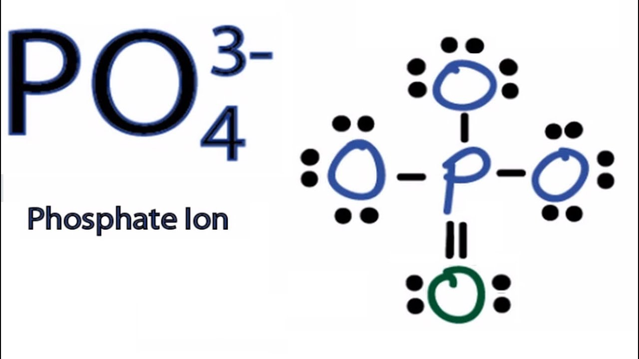 po4 3 lewis structure how to draw the lewis structure for po43  [ 1280 x 720 Pixel ]