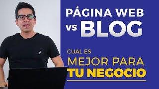 Diferencia entre blog y página web  ▶︎ Cuál es mejor para tu negocio ◀︎