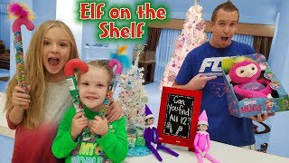 Elf on the Shelf Giant Candy Cane Scavenger Hunt in Our House!!! Da...