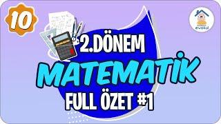 Matematik 2. Dönem Full Özet- 1  10. Sınıf uzaktaneğitim evokul Kampı 9