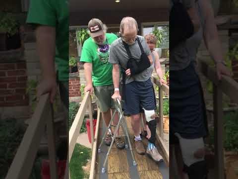 Tom Walks Down The Ramp With Hemi-walker