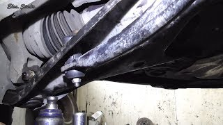 Замена стойки стабилизатора Renault Sandero stubilizer struts