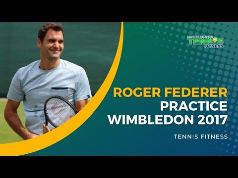 Roger Federer Practice Wimbledon 2017