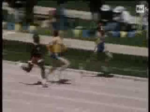 ATLETICA EDWIN MOSES RECORD MONDIALE 400 HS 1977