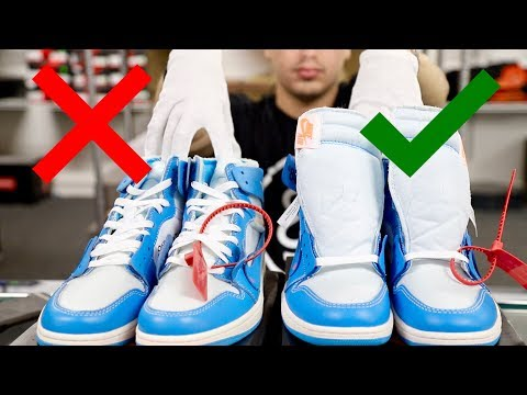 63609e50eb3 OFF-WHITE x Air Jordan 1 UNC | Real vs Fake - YouTube