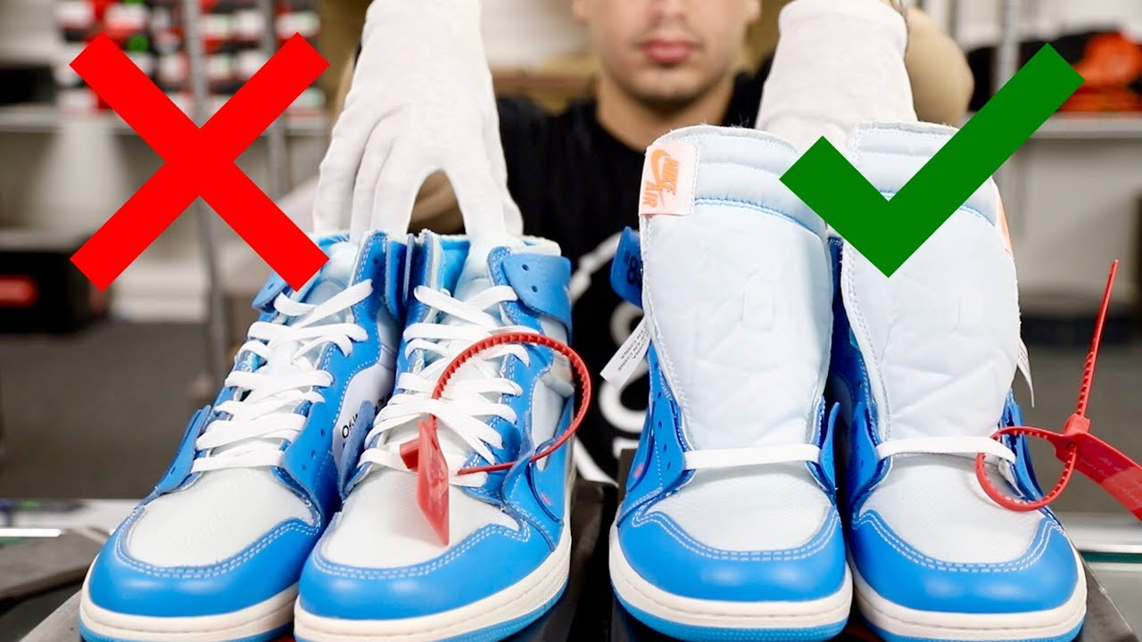 5fc0ea63bb0 OFF-WHITE x Air Jordan 1 UNC | Real vs Fake