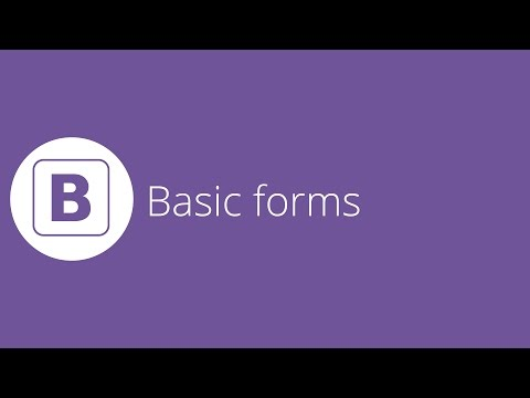 Bootstrap tutorial 12 - Basic forms