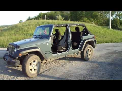 2015 jeep wrangler jku with top and doors off youtube. Black Bedroom Furniture Sets. Home Design Ideas