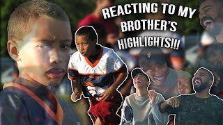 Reacting To My Brother's Highlights!!!- Sharpe Football Highlights [Reaction]