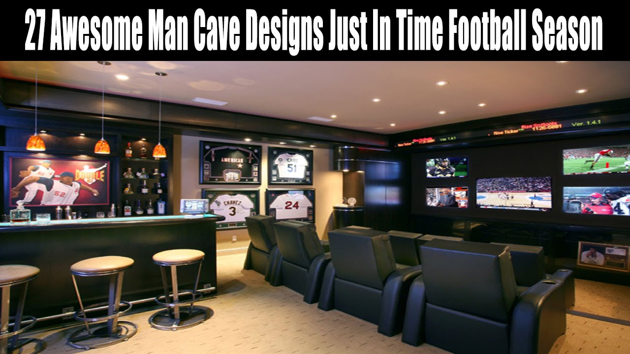 27 Awesome Man Cave Designs Just In Time Football Season