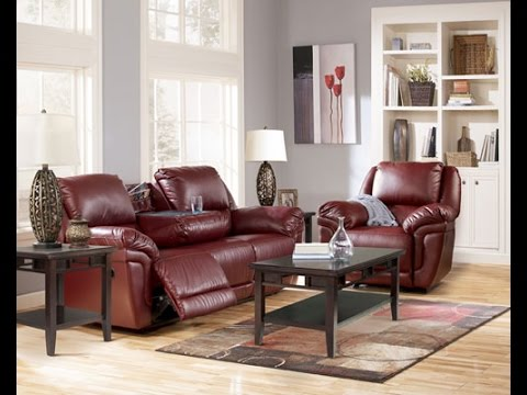 Ashley \ Magician DuraBlend®-Garnet\  Reclining Sofa and Recliner review & Ashley \