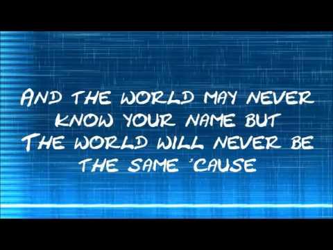Matthew West World Changers (Lyric Video)