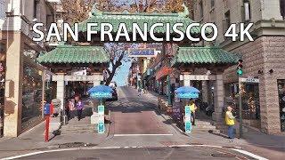 Driving Downtown - Chinatown 4K - San Francisco USA