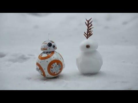 BB-8 meets a Snow Droid - Starwars new Droid