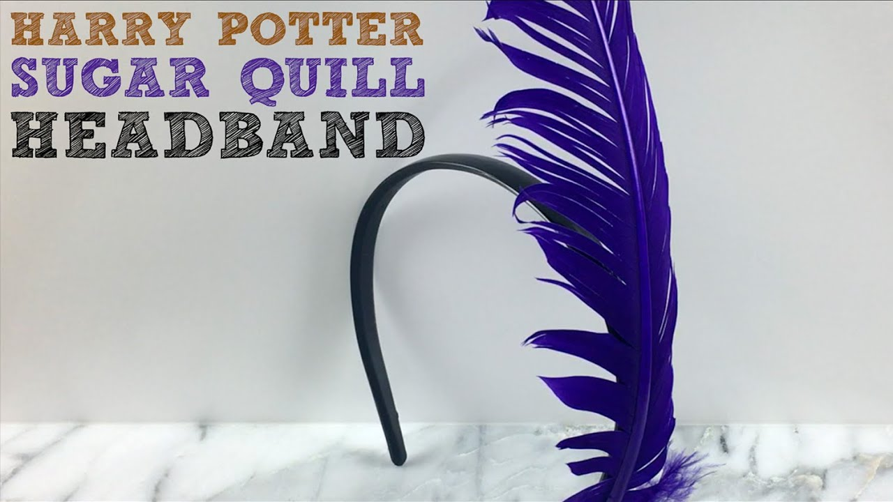 Harry Potter Craft Ideas For Kids Part - 45: Harry Potter Sugar Quill Headband Easy Craft For Kids - YouTube